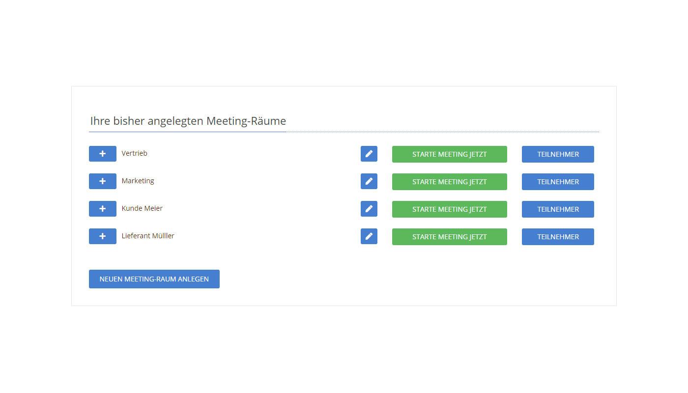 Meeting-Räume verwalten